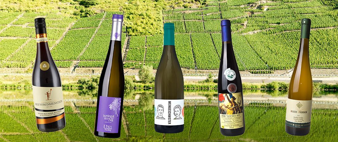 Proefdoos van 18 Duitse kwaliteits wijnen